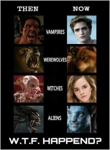 Werewolves Vampires yesterday vs today