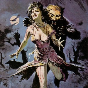 Werewolf Chasing Woman